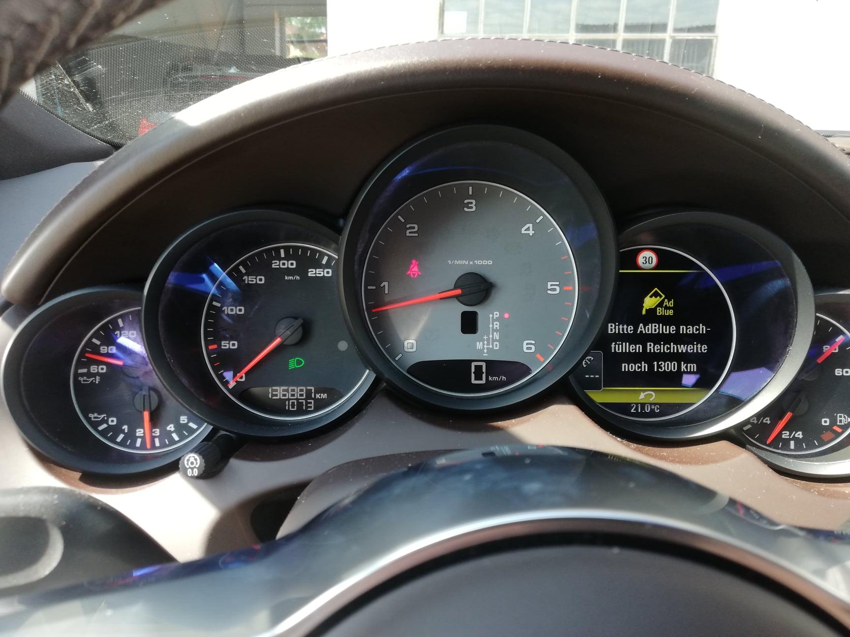 Porsche Cayenne 4S – 4.2 TDI Problem z Adblue